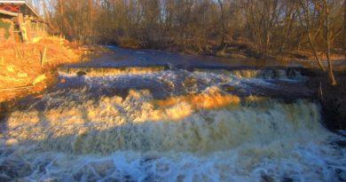 Сланцевский водопад. Аэросъемка