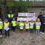 Юные помощники автоинспекторов в Загривском поселении провели акцию «Мы за жизнь по правилам»
